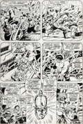 Original Comic Art:Panel Pages, Herb Trimpe and Sam Grainger Incredible Hulk #139 Page 15Original Art (Marvel, 1971)....