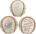 Autographs:Baseballs, Three Minor League Team Signed Baseball Lot of 3. The offered lotincludes two official Florida State League baseballs team...