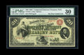 Large Size:Compound Interest Treasury Notes, Fr. 191a $20 1864 Compound Interest Treasury Note PMG Very Fine30....