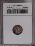 Early Half Dimes: , 1795 H10C --Cleaned, Damaged--ANACS. VG Details. LM-5. PCGSPopulation (5/428). NGC Census: (5/366). Mintage: 78,600. Numi...