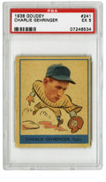 "Baseball Cards:Singles (1930-1939), 1938 Goudey Charlie Gehringer #241 PSA EX 5. The Tigers'""Mechanical Man"" Charlie Gehringer is the subject here of thisfin..."