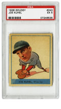Baseball Cards:Singles (1930-1939), 1938 Goudey Joe Kuhel #243 PSA EX 5. The exceptional 1938 Goudey issue includes cartoonish image of the popular baseball pl...