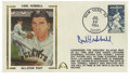 Autographs:Letters, Carl Hubbell Signed First Day Cover. The First Day Cover honoring the induction of Carl Hubbell into the Hall of Fame carri...