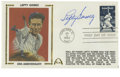 Autographs:Letters, Lefty Gomez Single Signed First Day Cover. His career spent almostentirely with the New York Yankees, Left Gomez amassed a...