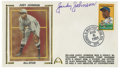 """Autographs:Letters, William """"Judy"""" Johnson Single Singed First Day Cover. A highlyintelligent and sure-handed third baseman, Johnson was induc..."""