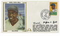 "Autographs:Letters, James ""Cool Papa"" Bell Single Signed First Day Cover. The signedFirst Day Cover commemorating the induction of Cool Papa B..."