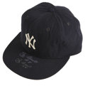 Baseball Collectibles:Hats, Yogi Berra Signed Game Worn Cap. Size 7-3/8 New Era Cap that we offer here was worn on the field by New York Yankees legend...