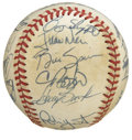 Autographs:Baseballs, 1988 Milwaukee Brewers Team Signed Baseball. The offered OAL (Brown) baseball has the distinction of holding the signature...