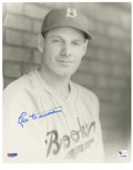 """Autographs:Photos, Leo Durocher Single Signed Photograph. Elected to the Baseball Hallof Fame in 1994, nicknamed """"Leo the Lip"""", Durocher's ca..."""