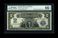 Large Size:Silver Certificates, Fr. 255 $2 1899 Silver Certificate PMG Gem Uncirculated 66 EPQ....