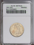 Bust Quarters: , 1831 25C Small Letters--Cleaned--ANACS. AU55 Details. B-4....