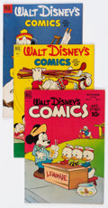 Golden Age (1938-1955):Cartoon Character, Walt Disney's Comics and Stories #97, 140, and 149 Group (Dell,1948-53) Condition: Average FN+.... (Total: 3 Comic Books)