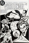 Original Comic Art:Covers, Rick Hoberg and Dick Giordano DC Challenge #8 Cover Original Art (DC, 1986)....