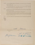 Baseball Collectibles:Others, 1924 Al Simmons Signed Philadelphia Athletics Rookie Contract....