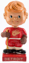 """Hockey Collectibles:Others, 1962 Detroit Red Wings """"Square Base"""" Nodder. ..."""