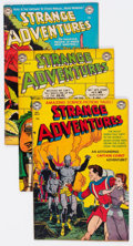 Golden Age (1938-1955):Science Fiction, Strange Adventures #13, 27, and 30 Group (DC, 1951-53) Condition:Average FN+.... (Total: 3 Items)