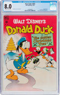 Golden Age (1938-1955):Funny Animal, Four Color #203 Donald Duck (Dell, 1948) CGC VF 8.0 Off-white towhite pages....