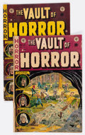 Golden Age (1938-1955):Horror, Vault of Horror #27 and 29 Group (EC, 1952-53) Condition: AverageGD/VG.... (Total: 2 Items)