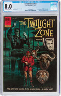 Silver Age (1956-1969):Mystery, Twilight Zone #12-860-210 (Dell, 1962) CGC VF 8.0 Off-white towhite pages....