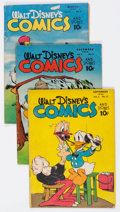 Golden Age (1938-1955):Cartoon Character, Walt Disney's Comics and Stories Group of 9 (Dell, 1946-51)Condition: Average GD+.... (Total: 9 Comic Books)