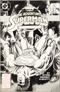 Original Comic Art:Covers, Jerry Ordway Adventures of Superman #436 Cover Original Art(DC, 1988)....