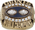 Football Collectibles:Others, 1990 New York Giants Super Bowl XXV Salesman's Sample Ring....