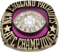Football Collectibles:Others, 1985 New England Patriots AFC Championship Staff Ring. ...