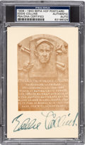 Baseball Collectibles:Others, 1939-43 Eddie Collins Signed Hall of Fame Plaque, PSA/DNAAuthentic....