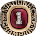 Baseball Collectibles:Others, 1994 Rich Hills Oklahoma Sooners NCAA Baseball Championship Ring....