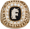 Baseball Collectibles:Others, 1997 Florida Marlins World Championship Prototype Ring. ...