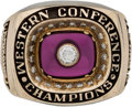 Football Collectibles:Others, 1984 Arizona Wranglers Western Conference Championship Ring. ...
