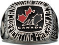 Hockey Collectibles:Others, 2001 Canadian Hockey Officiating Program Ring....