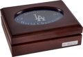 Baseball Collectibles:Others, 1988 Los Angeles Dodgers World Championship Ring Box (No Ring). ...