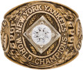 Baseball Collectibles:Others, 1962 New York Yankees World Championship Salesman's Sample Ring....