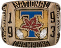 Football Collectibles:Others, 1993 Toronto Varsity Blues Vanier Cup Salesman's Sample Ring....
