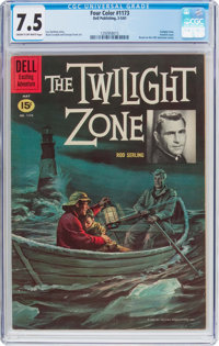 Four Color #1173 The Twilight Zone (Dell, 1961) CGC VF- 7.5 Cream to off-white pages