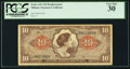 Military Payment Certificates:Series 641, Series 641 $10 Replacement PCGS Very Fine 30.. ...