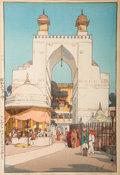 Prints & Multiples, Hiroshi Yoshida (Japanese, 1876-1950). Six Prints from the Untitled World Travel Series. Woodblock print in colors, ... (Total: 6 Items)