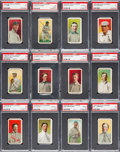 Baseball Cards:Sets, 1909 E95 Philadelphia Caramel PSA-Graded Complete Set (25). ...