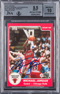 Basketball Collectibles:Others, 1984-85 Star Co. Michael Jordan #101 Signed Rookie BGS NM-MT+ 8.5, Autograph 10....