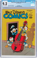 Golden Age (1938-1955):Funny Animal, Walt Disney's Comics and Stories #84 (Dell, 1947) CGC NM- 9.2 Creamto off-white pages....