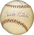 Baseball Collectibles:Balls, 1932 New York Yankees Hall of Famers Multi-Signed Baseball with Ruth, Gehrig, Pennock, Combs & Lazzeri. ...