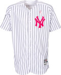Baseball Collectibles:Uniforms, 2017 Gary Sanchez Mother's Day Game Worn New York Yankees Jersey. ...