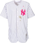 Baseball Collectibles:Uniforms, 2017 Aaron Judge Mother's Day Game Worn New York Yankees Jersey& Cap....
