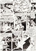 Original Comic Art:Panel Pages, Joe Kubert Speed Comics #30 Story Page 7 Original Art(Harvey, 1944)....