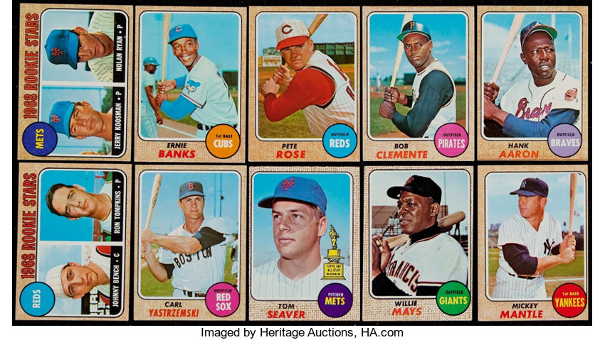 1968 Topps Baseball Complete Set 598 Baseball Cards