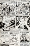 Original Comic Art:Panel Pages, Jack Kirby and Syd Shores Captain America #100 Page 26Original Art (Marvel, 1968)....