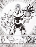 Original Comic Art:Splash Pages, Jim Lee and Scott Williams Justice League V2#4 Double-Splash Page 18-19 Darkseid Original Art (DC, 2012)....