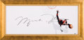 """Basketball Collectibles:Others, 2008 Michael Jordan Signed """"The Show"""" UDA Display with OversizedSignature. ..."""