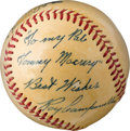 Baseball Collectibles:Balls, 1949-51 Roy Campanella Single Signed Baseball. ...